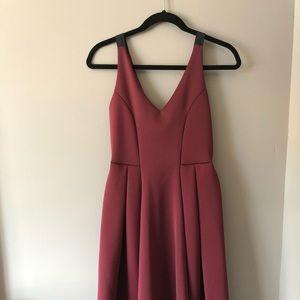 Red Petite High Apex Seamed Suva MIDI Dress
